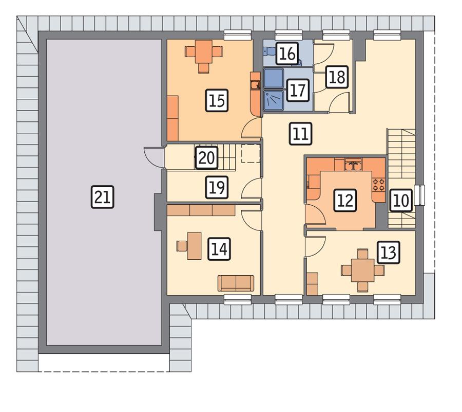 план первого этажа план