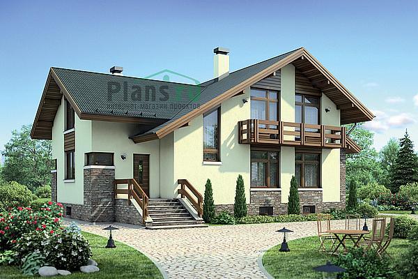 Проект дома из бруса с гаражом 13х9, загородный дом из