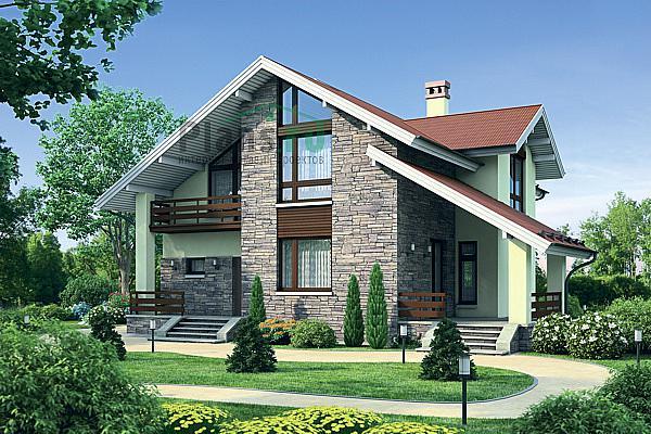 Проекты одноэтажных и двухэтажных домов с гаражом с
